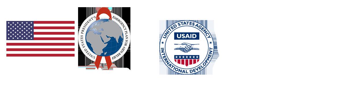 PEPFAR & USAID logos